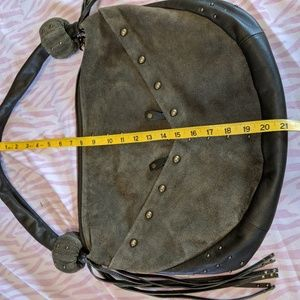 QUEEN COLLECTION SUEDE LEATHER PURSE
